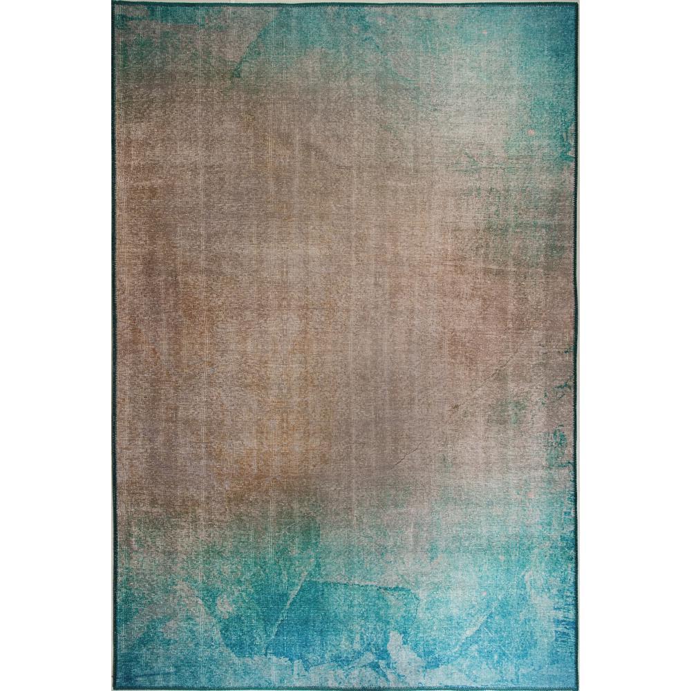 Aura Turquoise/Beige 8 ft. x 11 ft. Indoor Area Rug