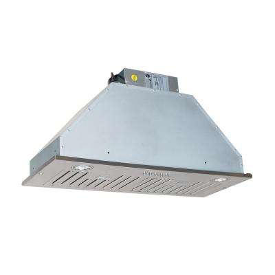 30 in. 600CFM Wall Mounted Range Hood With Light in Stainless Steel