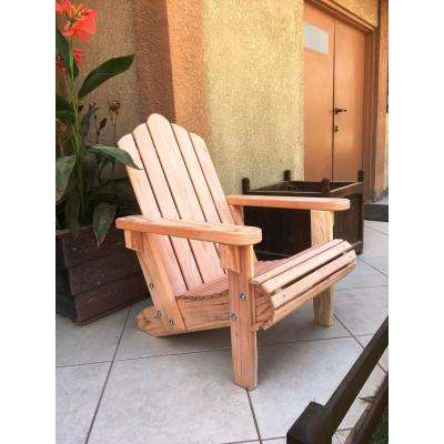 Outdoor Natural Unfinished Redwood Adirondack Chair