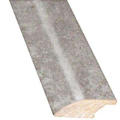 Concrete Gray 3/4 in. Thick x 2.25 in. Wide x 78 in. Length Hardwood Lip Over Reducer Molding