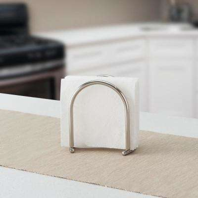 5.75 in. x 3 in. x 6 in. Napkin Holder in Satin Nickel