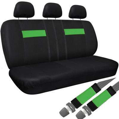 Polyester Bench Seat Cover 26 in. L x 23 in. W x 48 in. H Bench Seat Cover Green and Black
