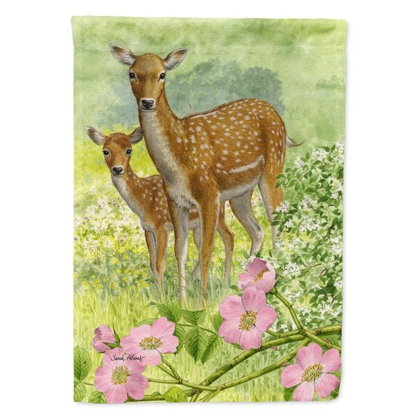 Caroline S Treasures 28 In X 40 In Polyester Fallow Deer Calf Flag Canvas House Size 2 Sided Heavyweight Asa2130chf The Home Depot