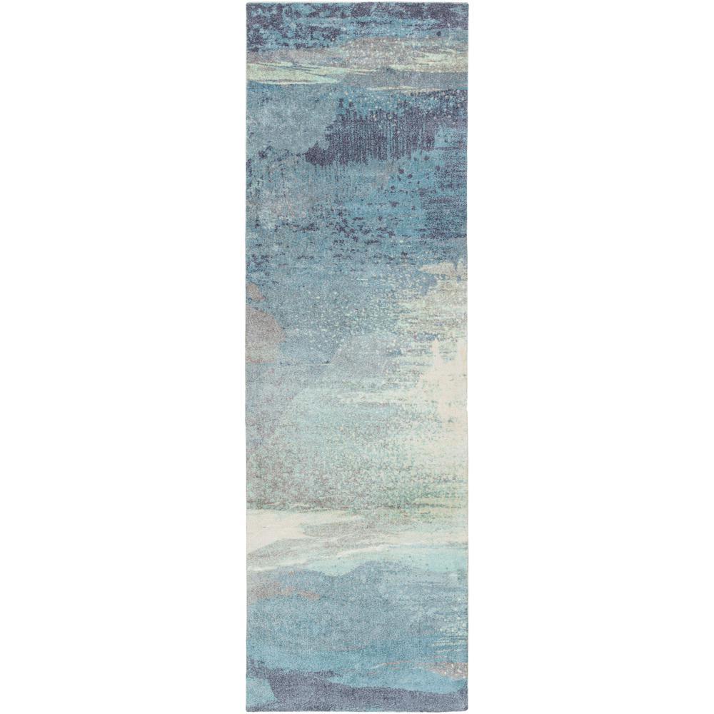 Alikka Sky Blue 3 ft. x 8 ft. Indoor Runner Rug