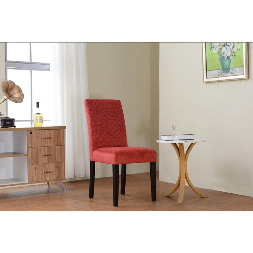 Linon Home Decor Upton Tomato Red Microfiber Parsons Side Chair (Set Of 2)