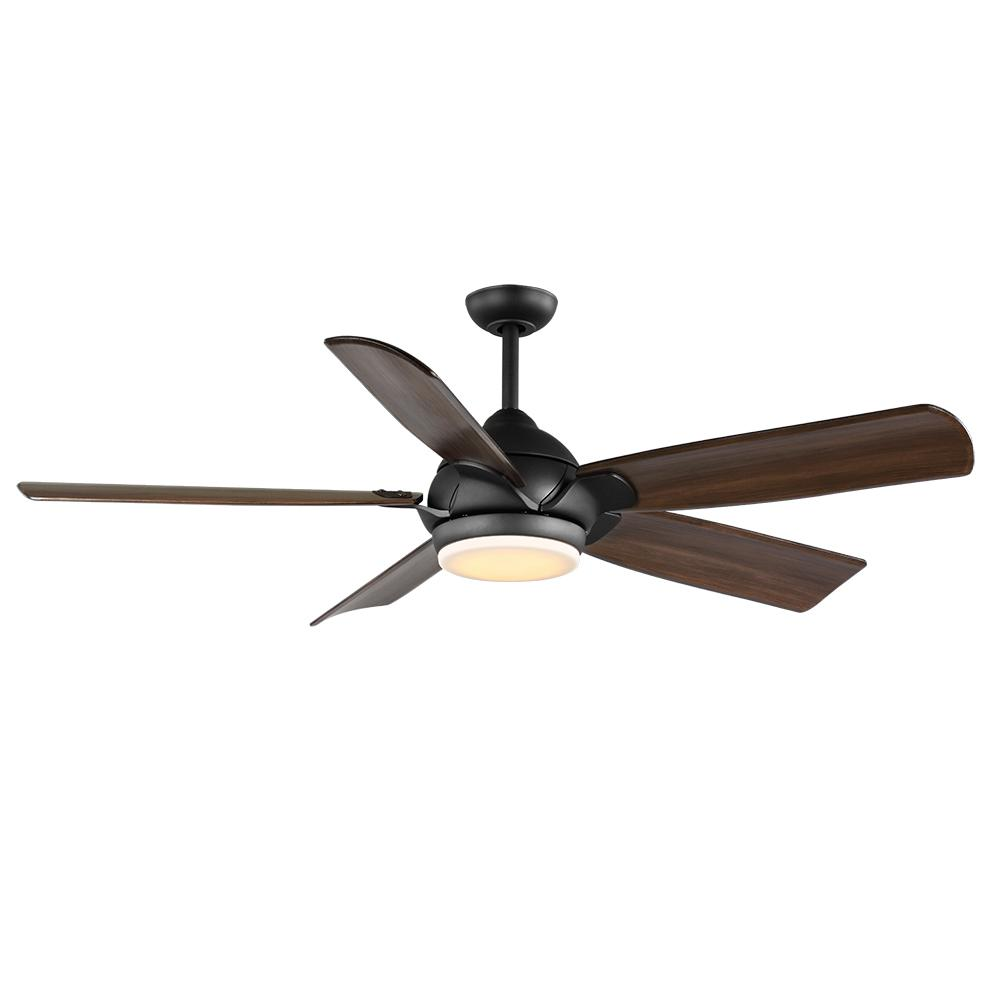 Home Decorators Collection Camrose 60 In Integrated Led Bronze Ceiling Fan With Light Kit And Remote Control White Color Changing Technology