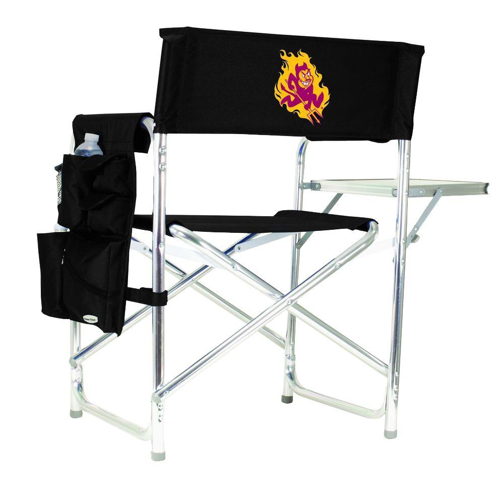 Arizona State University Black Sports Chair with Digital Logo