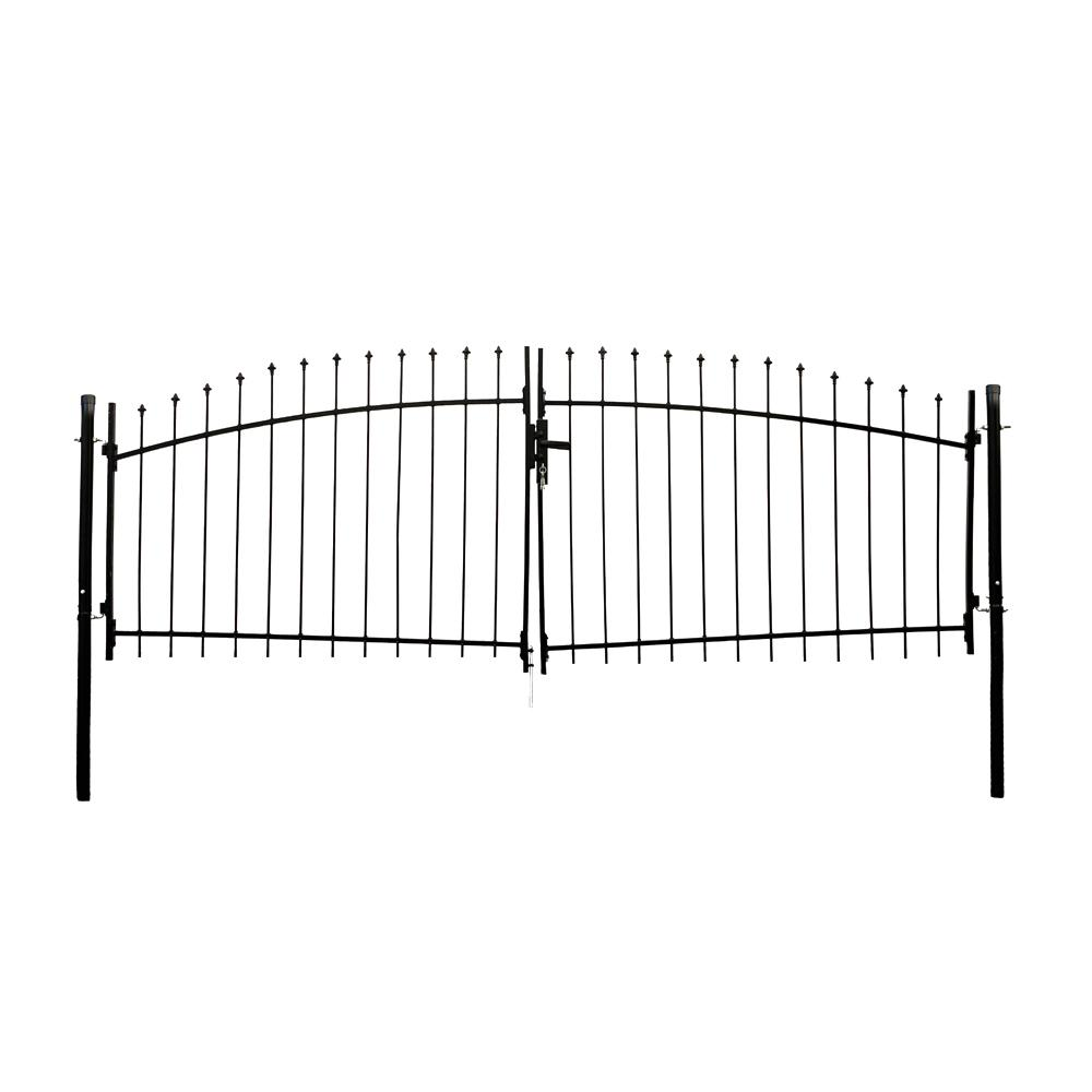 Athens Style 11 ft. x 5 ft. Black Steel DIY Dual