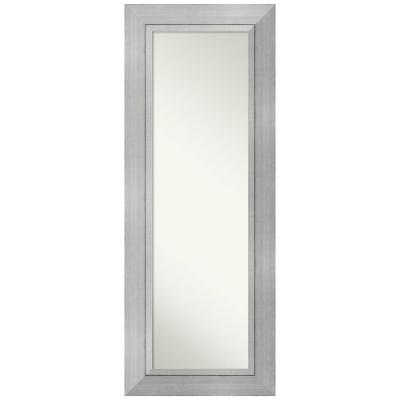Large Rectangle Burnished Silver Modern Mirror (55.25 in. H x 21.25 in. W)