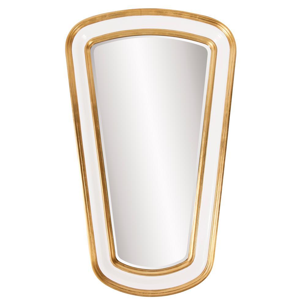 Darius White Tapered Mirror