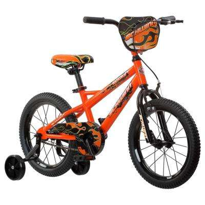 16 in. Boys Bike for Ages 3 Years to 5 Years in Orange