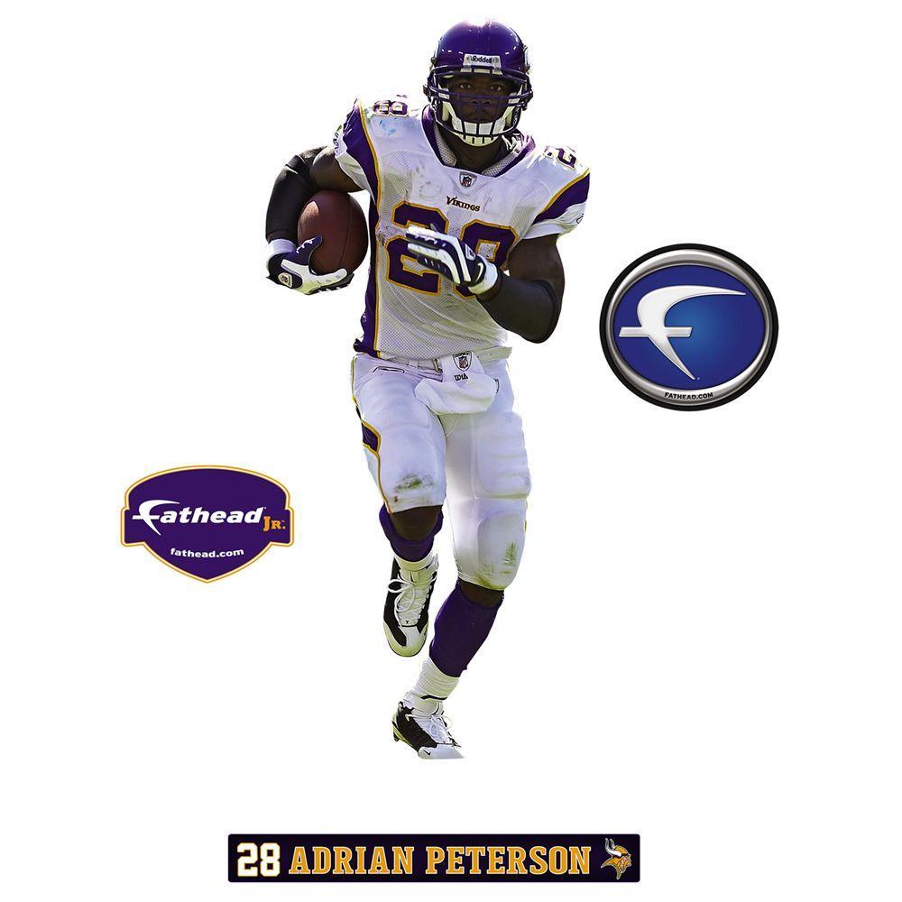 Fathead 18 in. x 32 in. Adrian Peterson Minnesota Vikings Wall Decal