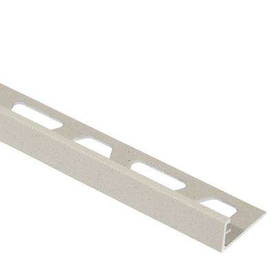 Jolly Ivory Textured Color-Coated Aluminum 3/8 in. x 8 ft. 2-1/2 in. Metal Tile Edging Trim