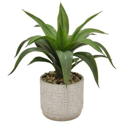 16 in. Faux Succulents in Flower Pot