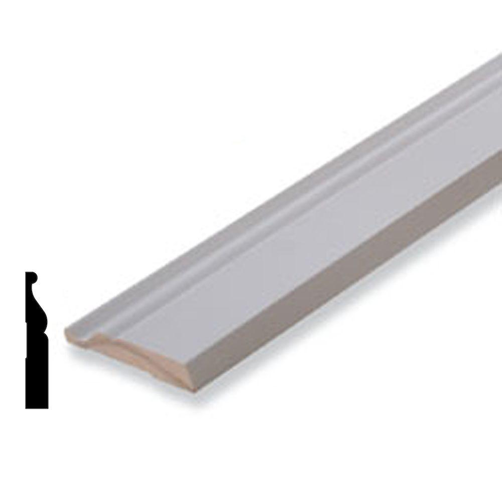 American Wood Moulding WM805 3/4 in. x 3-1/4 in. Primed Finger-Joint ...