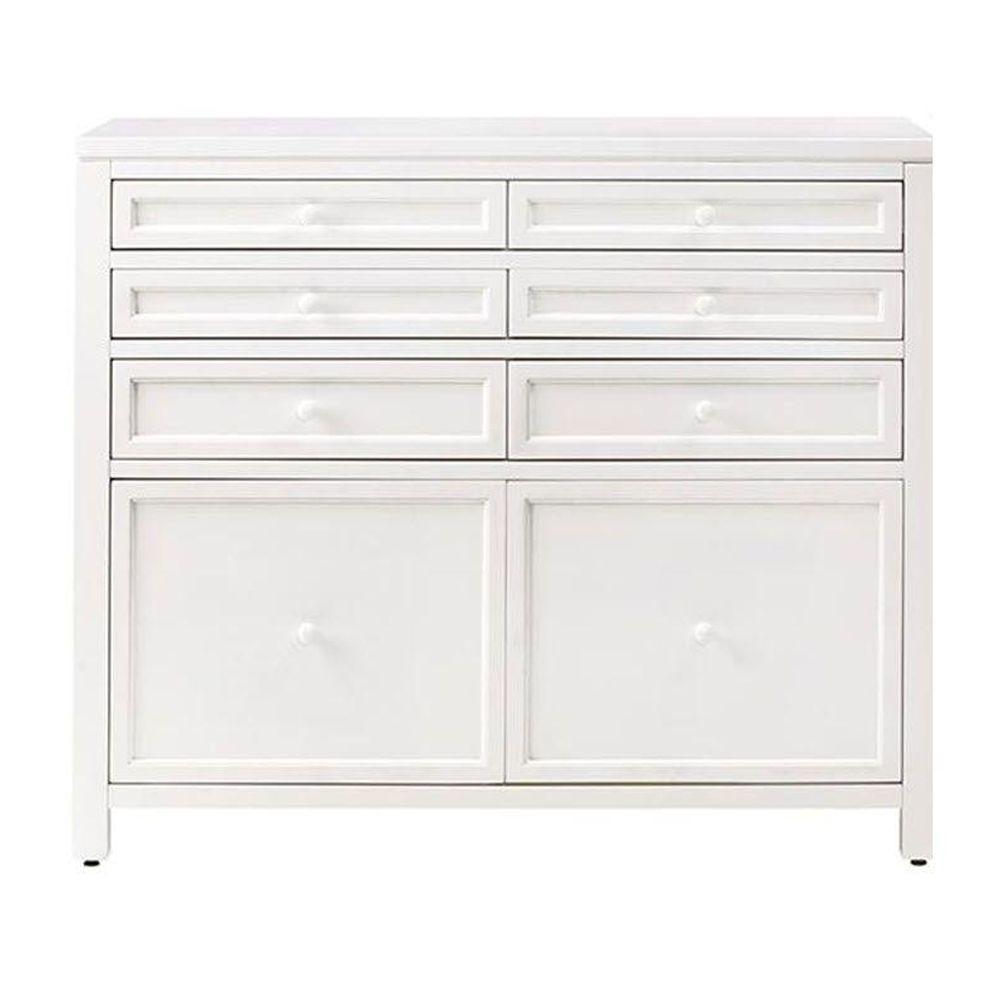 Martha Stewart Living Craft Space Picket Fence White Wooden 8 Drawer Storage Cabinet