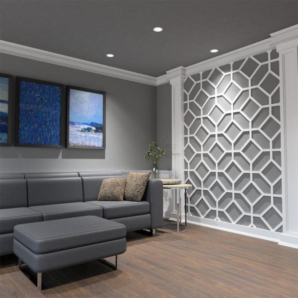 Ekena Millwork 3 8 X 25 5 8 X 15 3 8 Cameron Decorative Fretwork Wall Panels In Architectural Grade Pvc Walp16x16cam The Home Depot