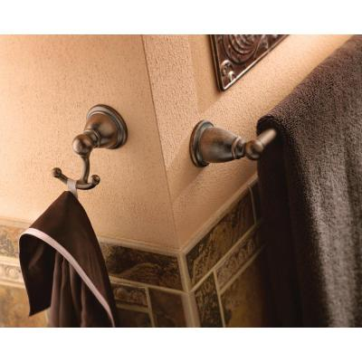 Brantford 4-Piece Bath Hardware Set with 18 in. Towel Bar, Paper Holder, Towel Ring, and Robe Hook in Oil Rubbed