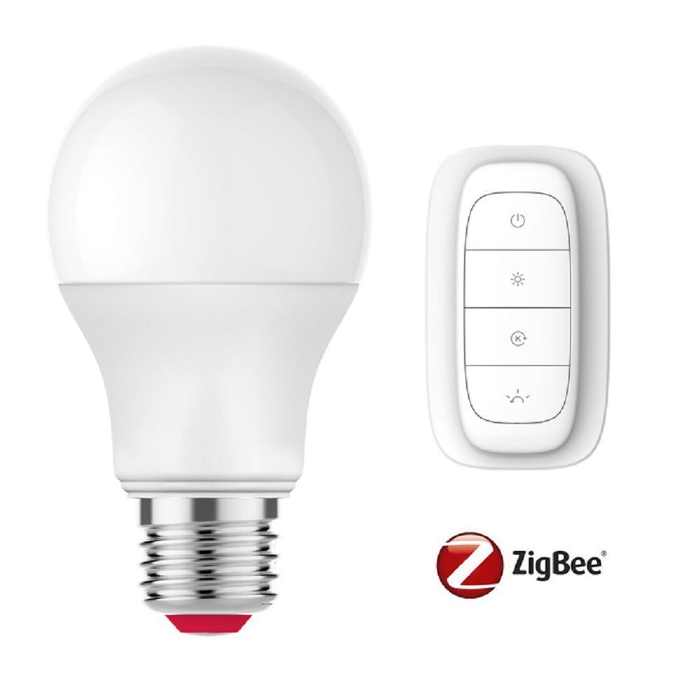 EcoSmart 60-Watt Equivalent A19 SMART LED Light Bulb Tunable White Starter Kit (1-Bulb)