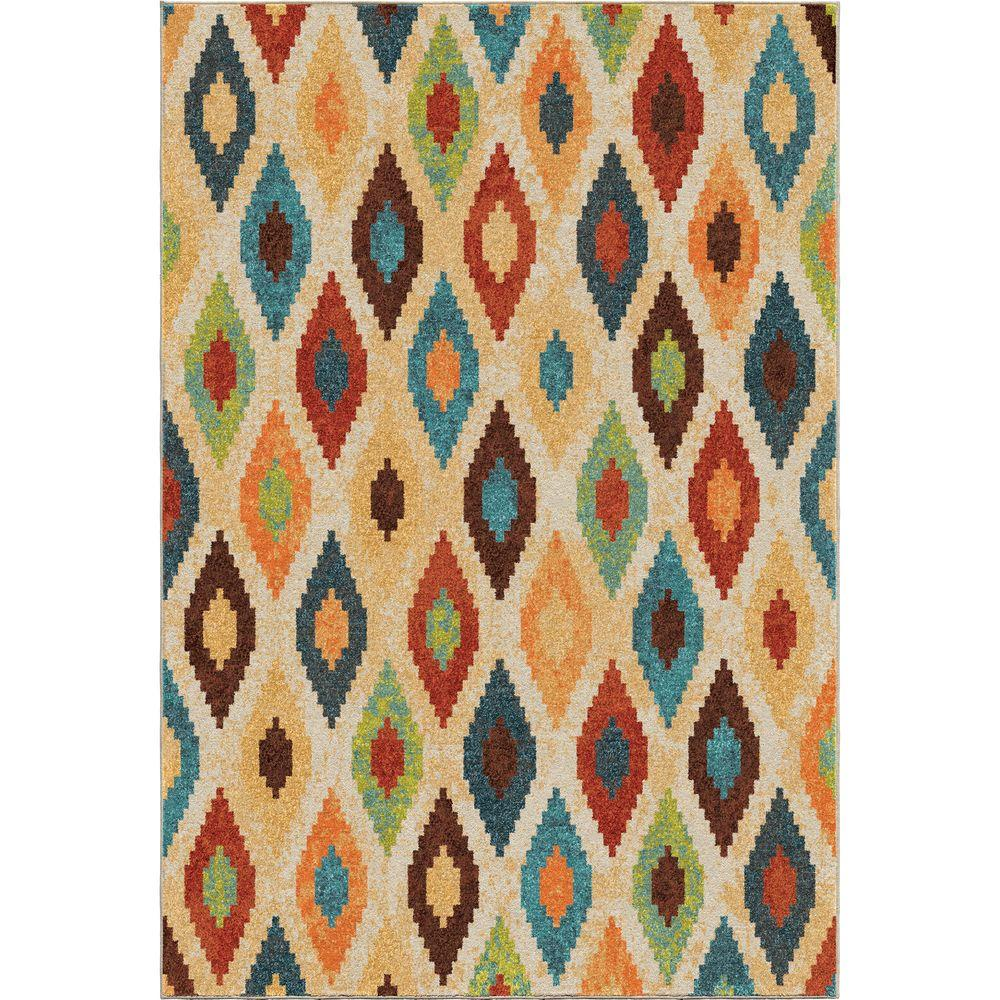 Orian Rugs Aspect Twists Multi Bright Colors 8 Ft X 11 Indoor Area