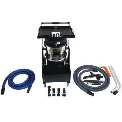 Mizar Commercial HEPA Canister Vacuum with Power and Pneumatic Tool Hookup and Adapter Set for Source Dust Capture