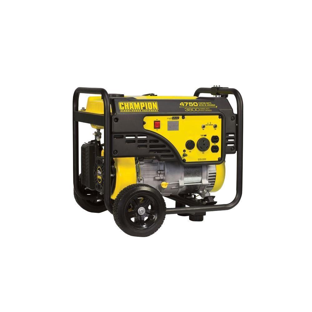 Click here to buy Champion Power Equipment 3,800-Watt Gasoline Powered Recoil Start RV Ready Portable Generator by Champion Power Equipment.