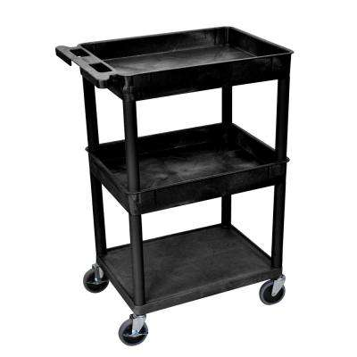 STC 24 in. W x 18 in. D 3 Top/ Middle Tub and Flat Bottom Shelf Utility Cart