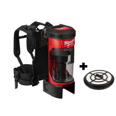 M18 FUEL 18-Volt Lithium-Ion Brushless 1 Gal. Cordless 3-in-1 Backpack Vacuum with Extra HEPA Filter