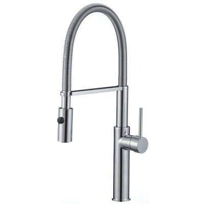 Bastion Single-Handle Pull-Down Sprayer Kitchen Faucet in Brushed Nickel