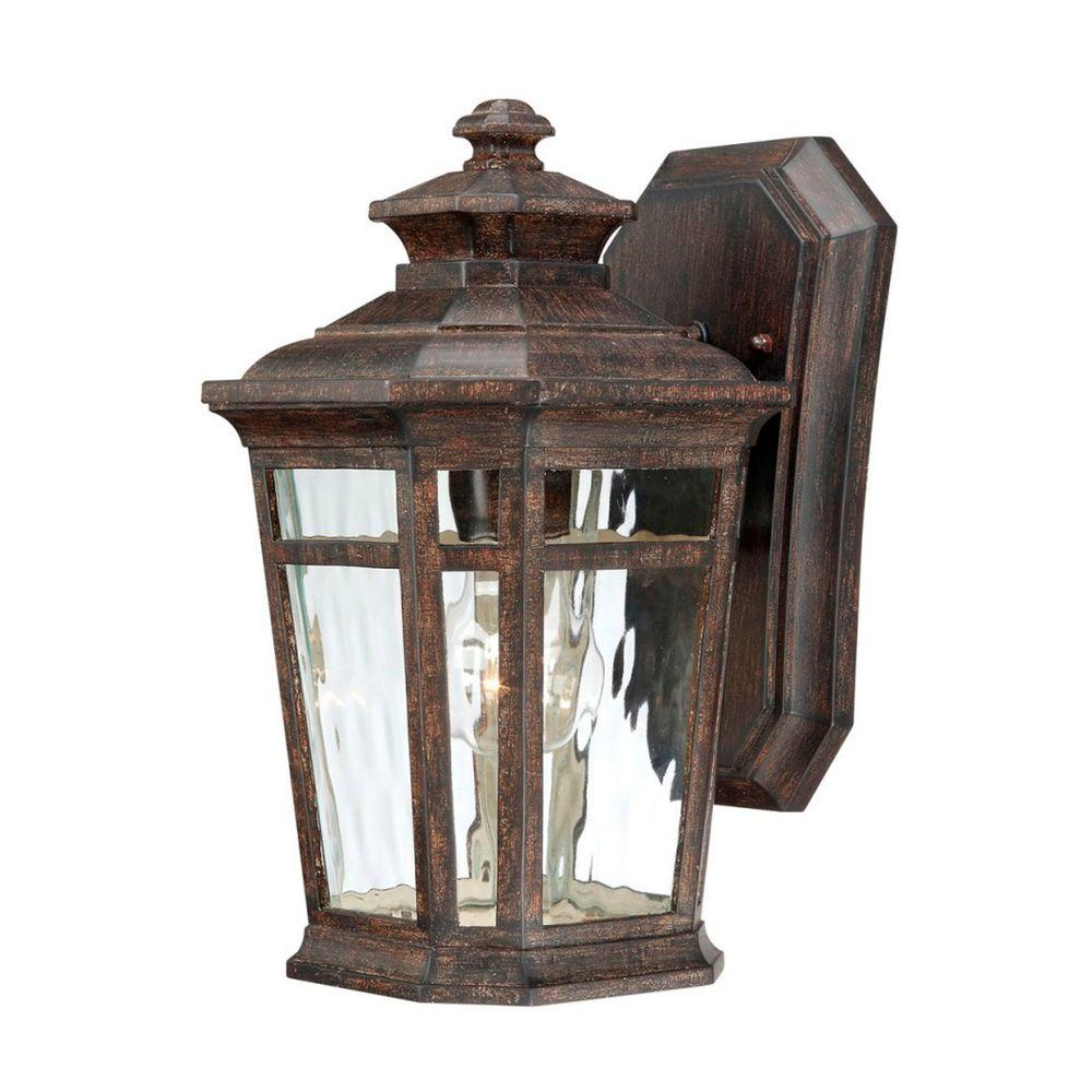 Home Decorators Collection Waterton 1-Light Dark Ridge Bronze Outdoor Wall Mount Lantern-23123 ...