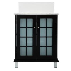 Home Decorators Collection Zen 23-3/4 inch W Bath Vanity in Espresso with Marble Vanity... by Home Decorators Collection
