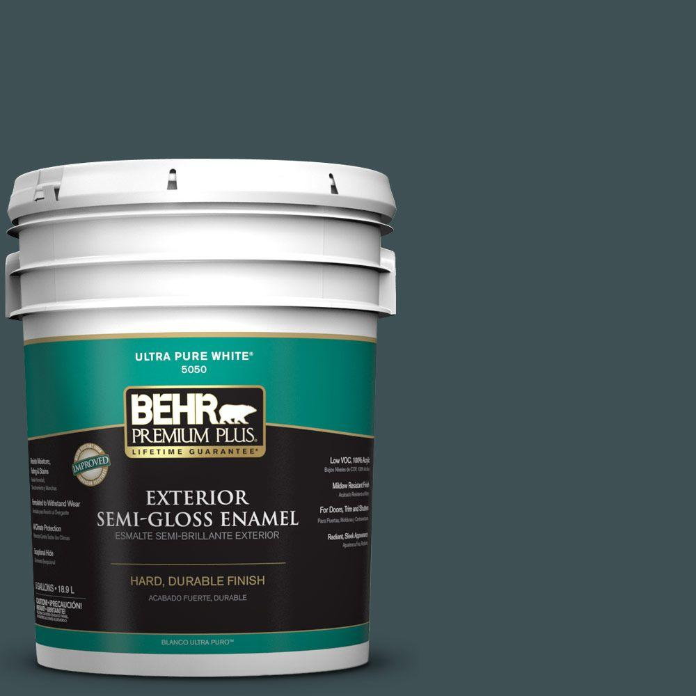 BEHR Premium Plus 5-gal. #S440-7 Thermal Semi-Gloss Enamel Exterior Paint