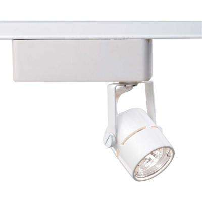 1-Light MR16 12-Volt White Round Track Lighting Head
