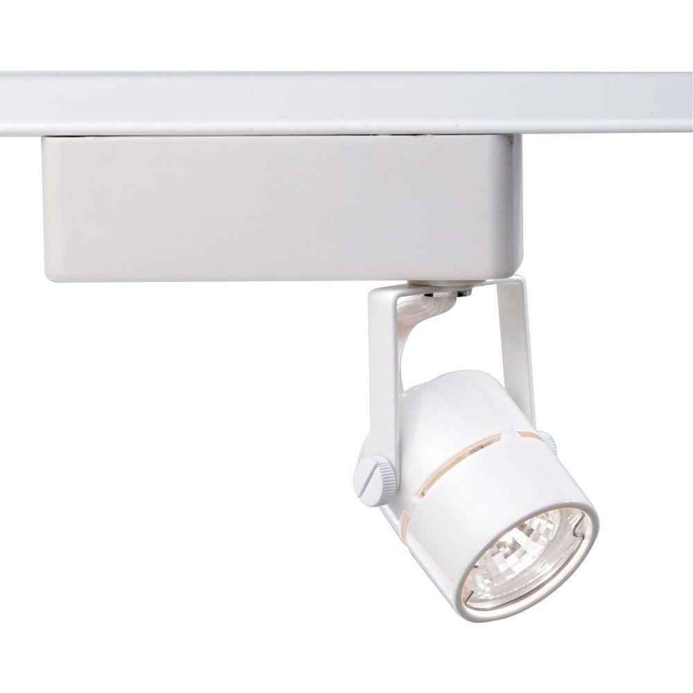 1-Light MR16 12-Volt White Round Track Lighting Head