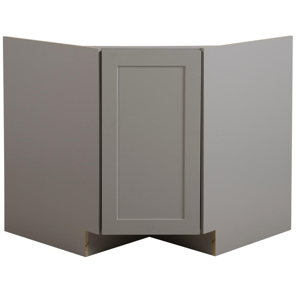 Corner Sink Base Kitchen Cabinet: Hampton Bay Cambridge Ready To Assemble 36x34.5x24.5 In