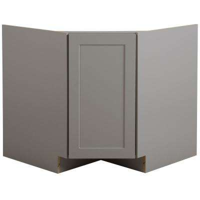 Cambridge Ready to Assemble 36x34.5x24.5 in. Corner Sink Base Cabinet in Gray