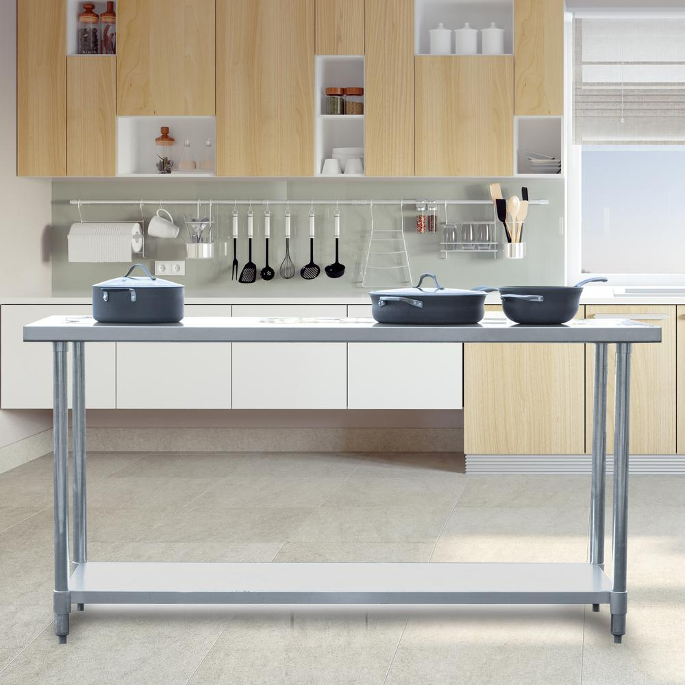 Beautiful Sportsman Stainless Steel Kitchen Utility Table