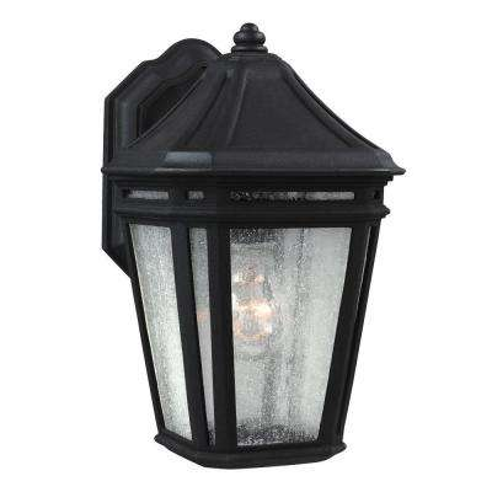 Londontowne 1-Light Black Outdoor 12.5 in. Wall Lantern Sconce