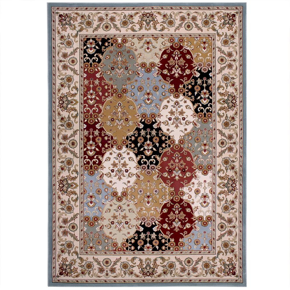 Carpet Art Deco Eternity Multi 5 Ft X 7 Ft Area Rug