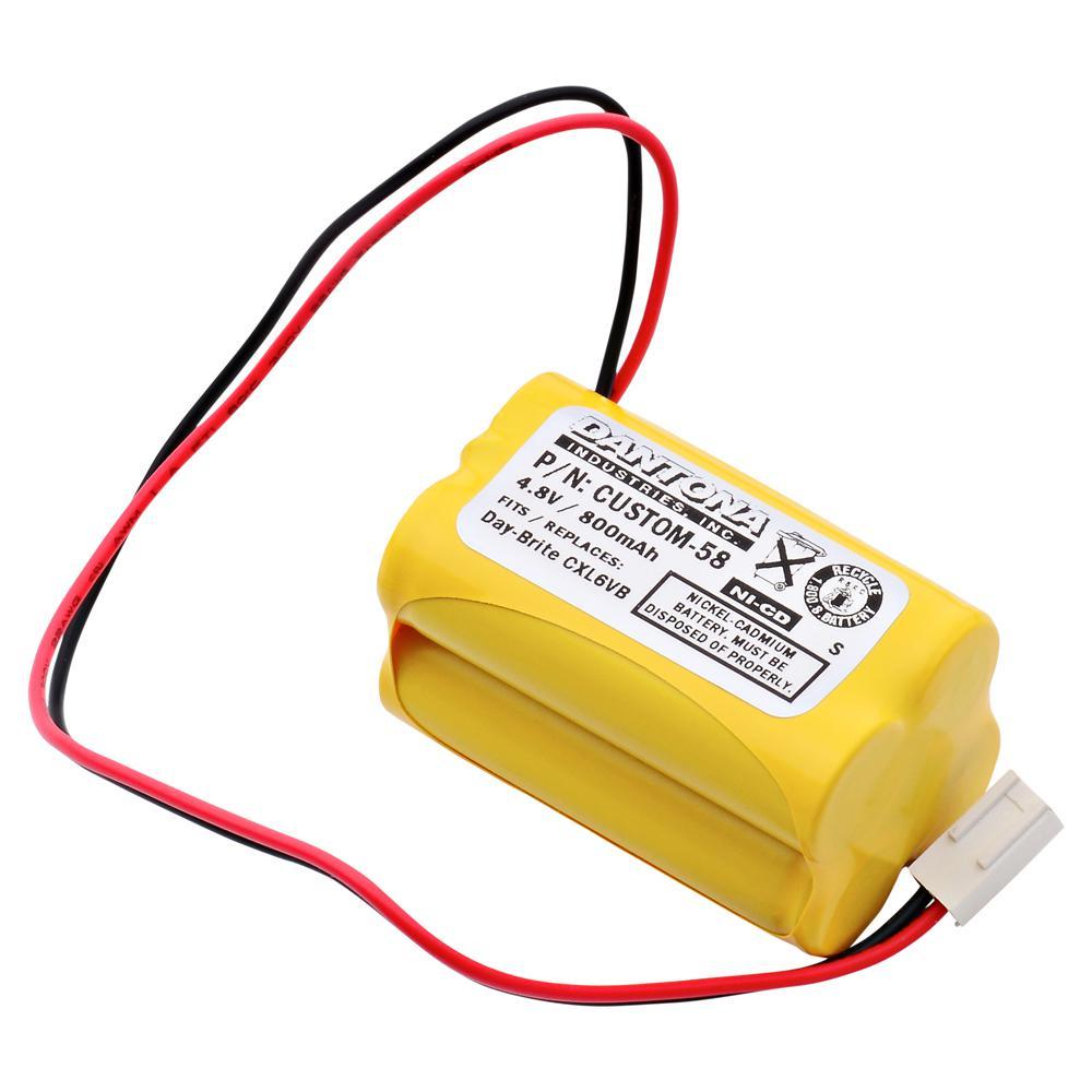 Dantona 4 8 Volt 800 Mah Ni Cd Battery For Day Brite Cxl6vb Emergency Lighting