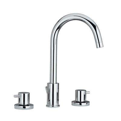 Luxe 8 in. Widespread 2-Handle Bathroom Faucet in Polished Chrome