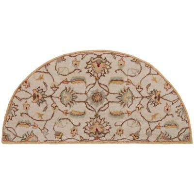 Cyrus Beige 2 ft. x 4 ft. Hearth Indoor Area Rug