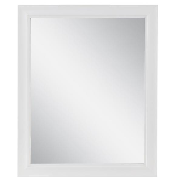 Candlesby 22 in. W x 27 in. L in Wood Framed Wall Mirror in White