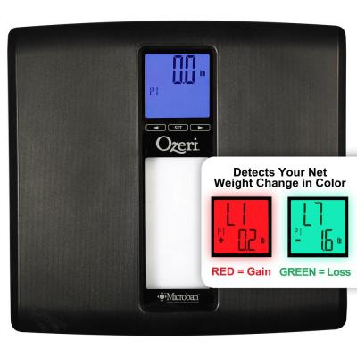 Ozeri WeightMaster II 440 lbs. Digital Bath Scale with BMI and Weight Change Detection, Black