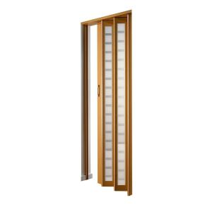 century beech frosted square acrylic accordion door