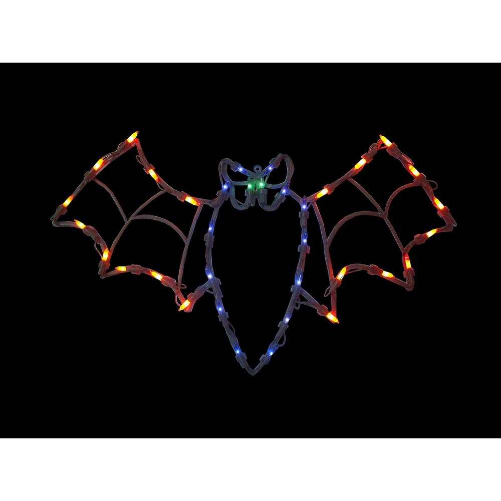 Northlight 15 In Lighted Bat Halloween Window Silhouette Decoration