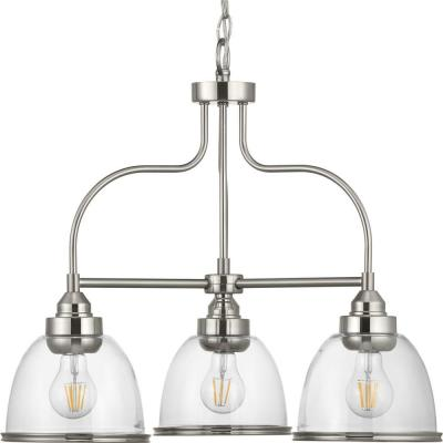 Saluda 3-Light Brushed Nickel Chandelier with Shade