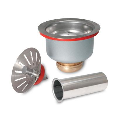 Stainless Steel Commercial Deep Cup Sink Strainer and Tailpiece