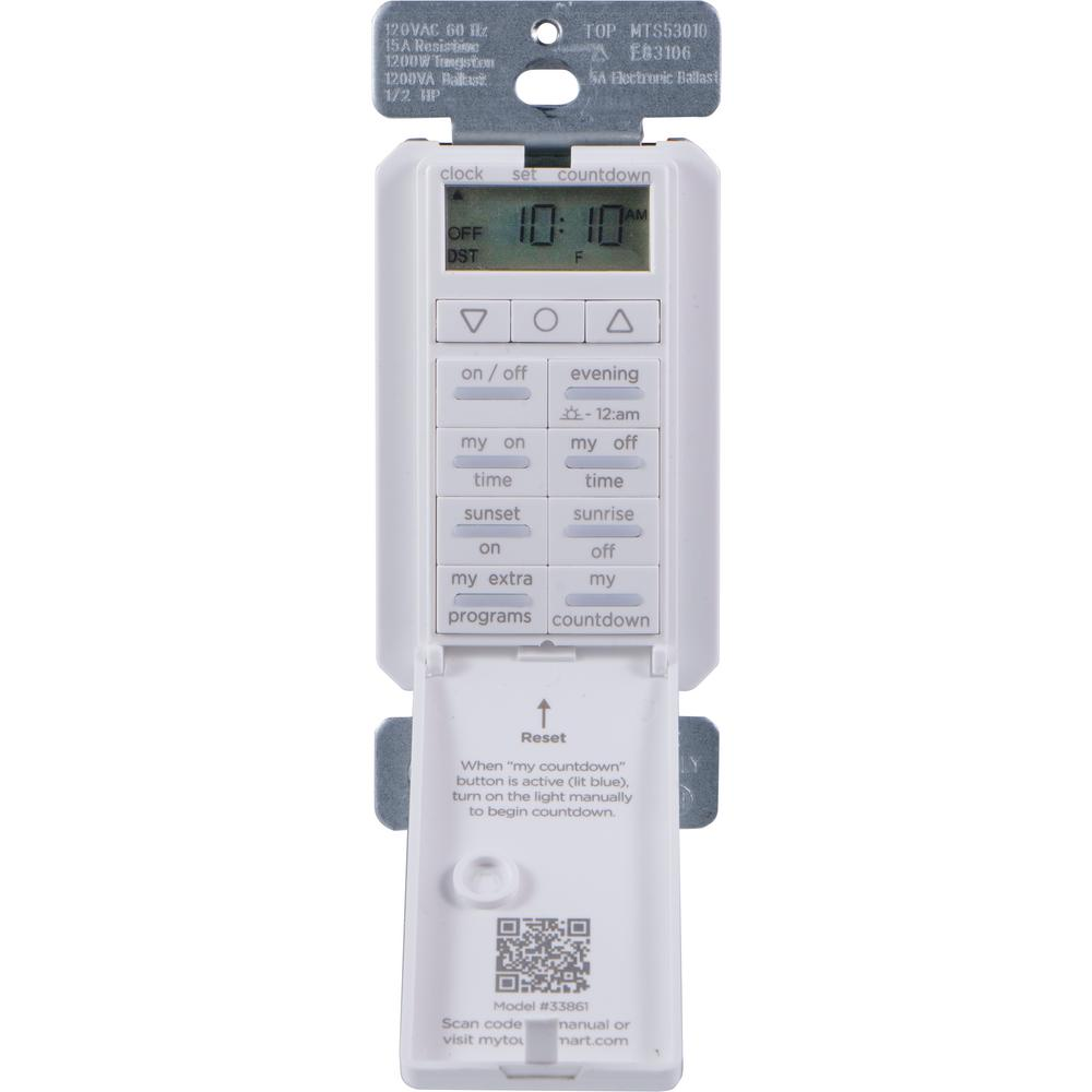 Mytouchsmart 7 Day Digital All In One Indoor In Wall Smart Timer