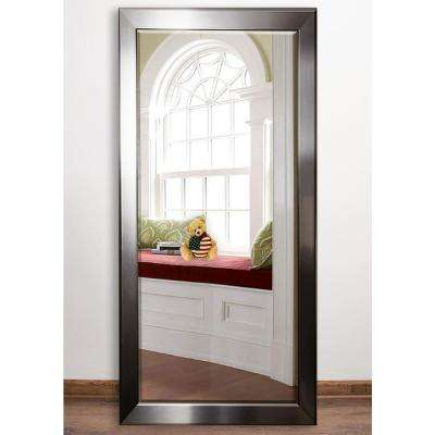 30.5 in. x 64 in. Silver Rounded Beveled Full Body Mirror